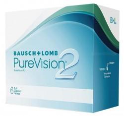 Линзы контактные, Пюэвижн 2 №6 HD bc 8.6 (-4.00)