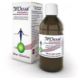 Экоклав, пор. д/сусп. д/приема внутрь 250 мг+62.5 мг/5 мл 25 г №1