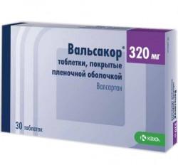Вальсакор, табл. п/о пленочной 320 мг №30