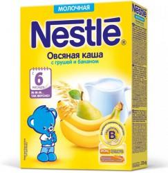 Каша молочная, Нестле 220 г овсяная с грушей и бананом с бифидобактериями с 6 мес