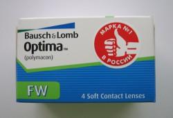 Линзы контактные, Оптима №4 FW bc 8.7 мм (-3.75)