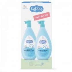 Набор, Лавена Беббл шампунь для волос и тела + гель для мытья 400 мл + 400 мл