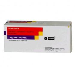 Тидомет форте, табл. 250 мг+25 мг №100
